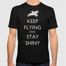 Keep Flying And Stay Shi… Mens Fitted Tee Tri-Black SMALL