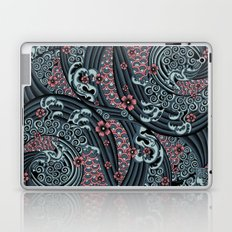 waves of tradition-blue Laptop & iPad Skin
