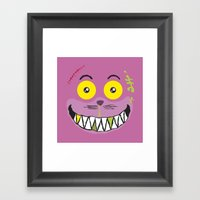 Smilezz / Cheshire Cat Framed Art Print