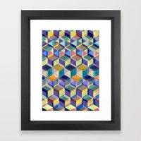 Cube Geometric VIII Framed Art Print