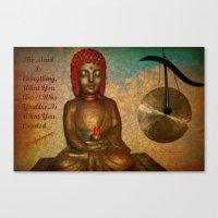 Little Buddha Canvas Print
