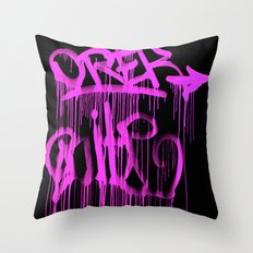 Puke Pink Throw Pillow