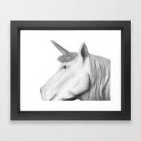 Kathryn's Unicorn Framed Art Print