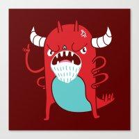 Monster Nagging Canvas Print