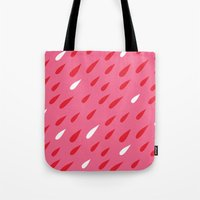 Red + Pink Droplets Tote Bag