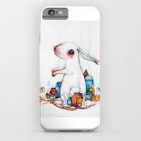 iPhone & iPod Case featuring Very big rabbit by Nora Illustration