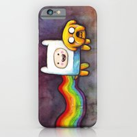 Nyan Time with Jake and Finn iPhone 6 Slim Case