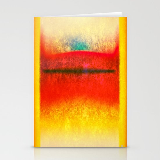 After Rothko 8 Stationery Card