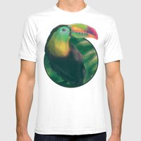 Tropical Mens Fitted Tee White SMALL