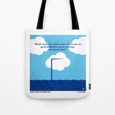 No234 My Truman show minimal movie poster Tote Bag