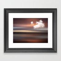 D-MOTION - Surreal abstract landscape Framed Art Print