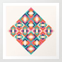 Colorful Geometric Art Print