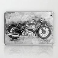 Vintage Motorcycle No2 Laptop & iPad Skin