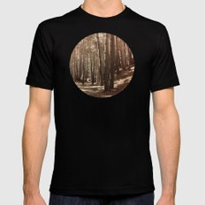 it's autumn SMALL Black Mens Fitted Tee