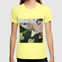 Flowers Womens Fitted Tee Lemon SMALL