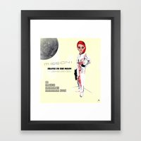 MOON BY NOON Framed Art Print