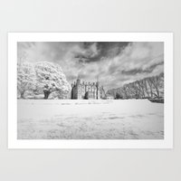 Winter at the Old Castle Art Print