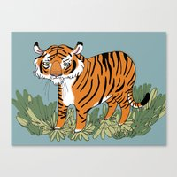 Tiger Tiger Burning Brig… Canvas Print