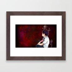 Rin and Kuro  Framed Art Print