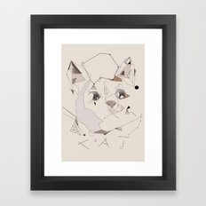 Cute Cat Framed Art Print