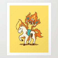Gotta Burn 'em All !!! Art Print