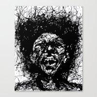 Drip Face Canvas Print