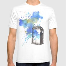 Doctor Who Tardis Mens Fitted Tee SMALL White