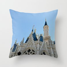 Cinderella's Castle I Throw Pillow