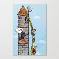 Rapunzel and Skywalker Canvas Print
