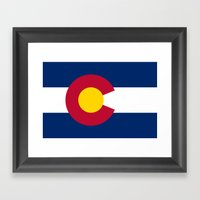 Authentic Colorado state flag (High Def file) Framed Art Print