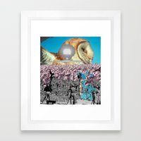 Owl and other things Framed Art Print