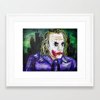 Gotham is Mine - Heath Ledger as The Joker Framed Art Print