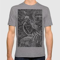 Chicken Scratch Mens Fitted Tee Athletic Grey SMALL