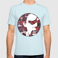 Dark Passenger Mens Fitted Tee Light Blue SMALL