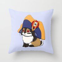 Lièvre à Cornes En Cha… Throw Pillow