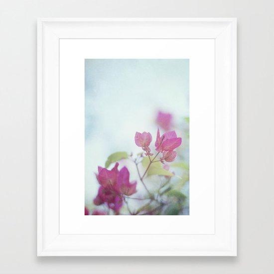 A little pink Framed Art Print
