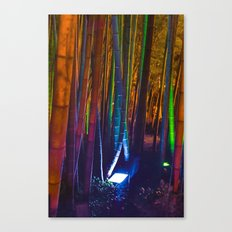 A colorful bamboo forest Canvas Print