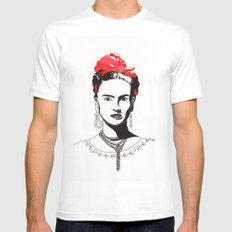 Frida White Mens Fitted Tee SMALL