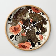 Spangled & Plumed Wall Clock