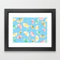Gingko Leaves Framed Art Print