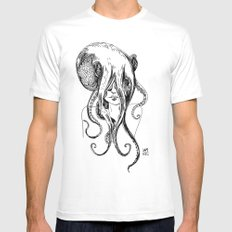 Octogirl White Mens Fitted Tee SMALL