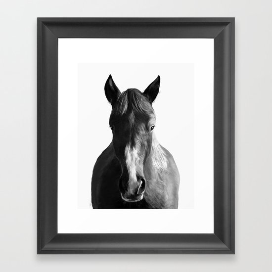Horse Framed Art Print By Amy Hamilton Society6