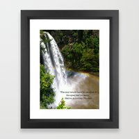 The Soul and the Rainbow Framed Art Print