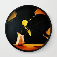 Romantic Sunset Wall Clock