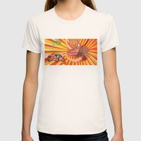 Julia Womens Fitted Tee Natural SMALL