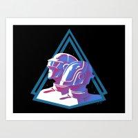 Daft Punk: Daft Deco Art Print