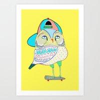 Rad Owl Art Print