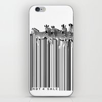 Zebra Barcode iPhone & iPod Skin