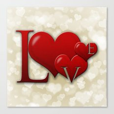 Love! Love! Love!  Canvas Print