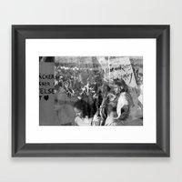Humanity, Solidarity, Fr… Framed Art Print
